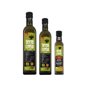 EVOO bottles, PDO Kolymvari, Crete